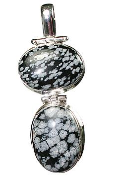 Design 10184: black,gray obsidian pendants