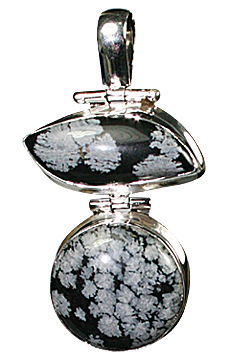 Design 10185: black,gray obsidian pendants
