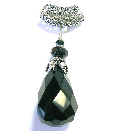 Design 10236: black onyx chunky pendants