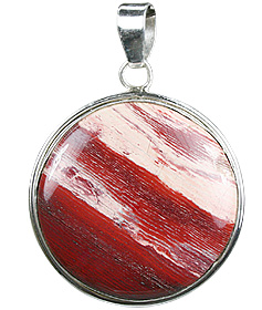 Design 10242: gray,red jasper pendants