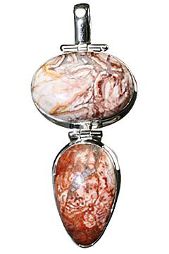 Design 10244: red jasper drop pendants
