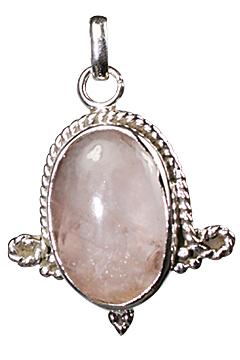 Design 10265: pink rose quartz pendants