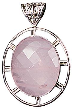 Design 10266: pink rose quartz pendants