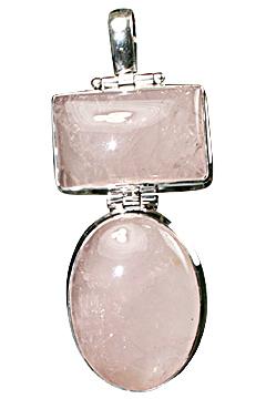Design 10269: pink rose quartz pendants