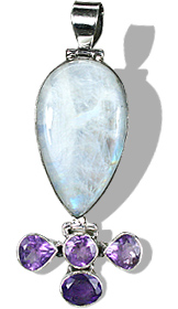 Design 10275: purple,white moonstone pendants