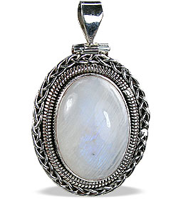 Design 10279: white moonstone estate pendants
