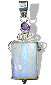 Design 10282: purple,white moonstone staff-picks pendants