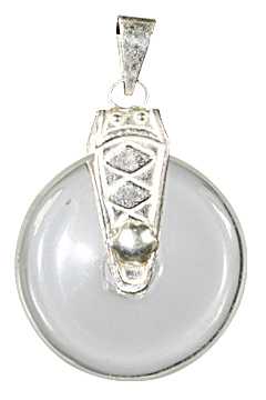 Design 10323: white crystal donut pendants