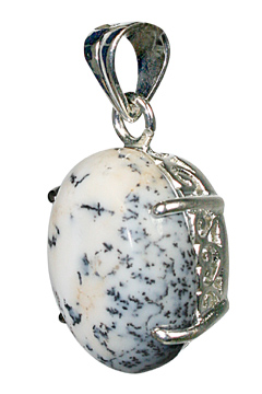 Design 10481: black,white dendrite opal art-deco, mens pendants