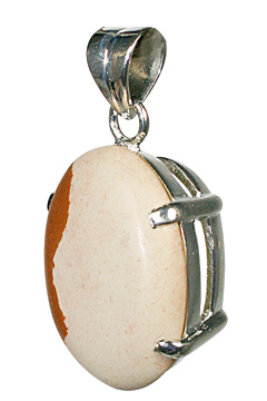 Design 10485: brown jasper art-deco, mens pendants
