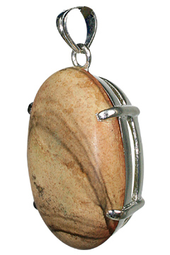 Design 10487: brown jasper art-deco, mens pendants