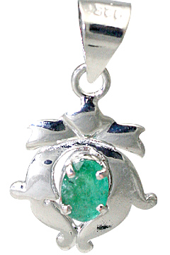 Design 10493: green emerald art-deco pendants
