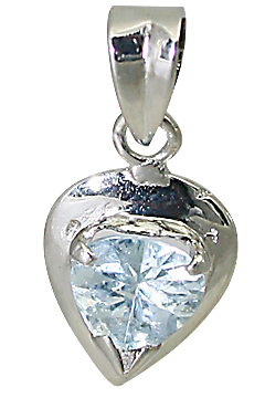 Design 10503: Blue aquamarine heart pendants
