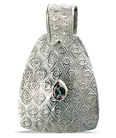 Design 10623: white mystic quartz estate pendants