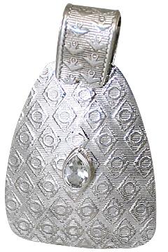 Design 10624: white white topaz pendants