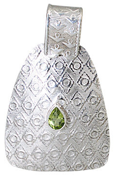 Design 10625: green peridot estate pendants
