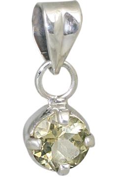 Design 10631: green lemon quartz mini pendants