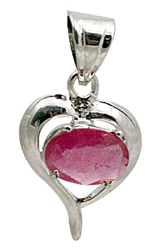 Design 10647: pink ruby heart pendants