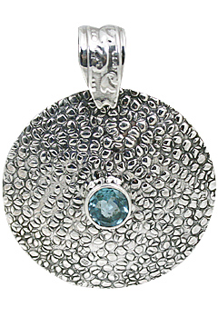 Design 10652: blue blue topaz estate, ethnic pendants