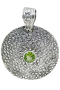Design 10654: green peridot ethnic pendants