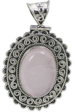 Design 10660: pink rose quartz estate pendants