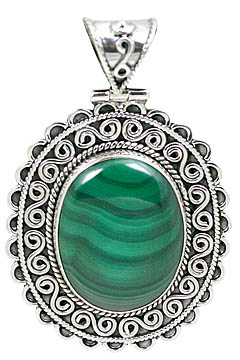 Design 10661: green malachite estate pendants