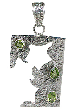 Design 10690: green peridot art-deco pendants