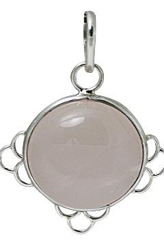 Design 10707: pink rose quartz pendants