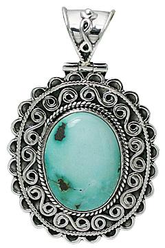 Design 10708: green turquoise ethnic pendants