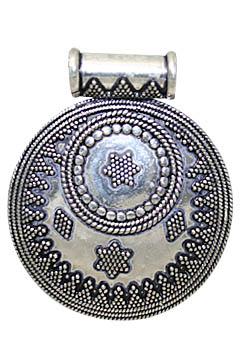 Design 10709: White silver ethnic pendants