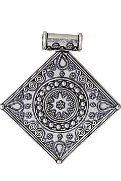 Design 10710: White silver ethnic pendants