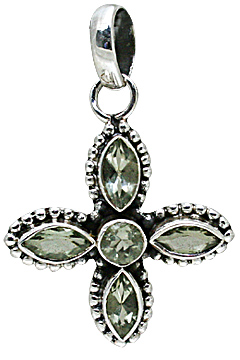 Design 10812: green green amethyst pendants