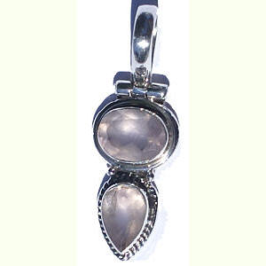 Design 10819: pink rose quartz drop pendants