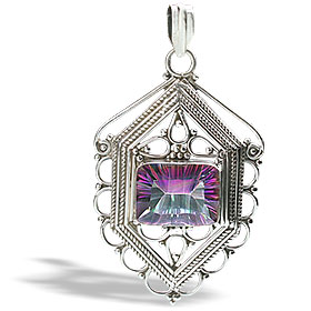 Design 10826: pink,multi-color mystic quartz chunky pendants
