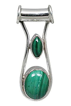 Design 10881: green malachite pendants