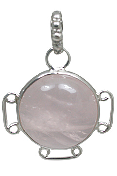 Design 10882: pink rose quartz pendants