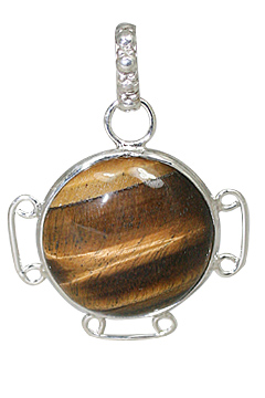 Design 10884: brown tiger eye pendants