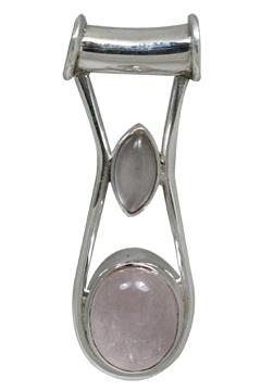 Design 10890: pink rose quartz pendants