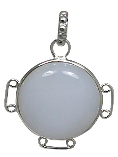 Design 10893: white chalcedony pendants