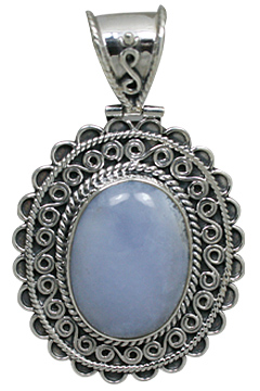 Design 10901: blue chalcedony pendants