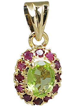 Design 10928: green,pink peridot pendants