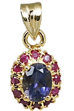 Design 10931: blue,pink iolite pendants