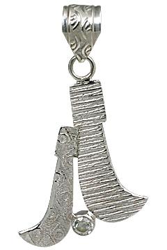 Design 11110: white white topaz pendants
