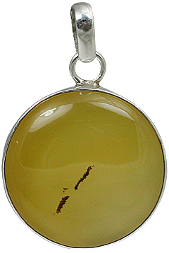 Design 11153: yellow onyx pendants