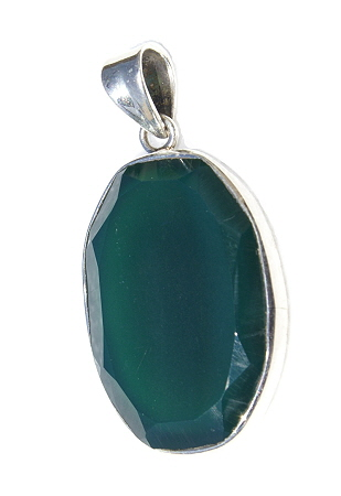 Design 11202: green onyx pendants