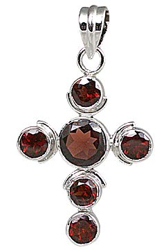 Design 11272: Red garnet cross pendants