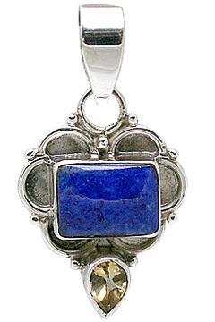Design 11387: blue,yellow lapis lazuli pendants