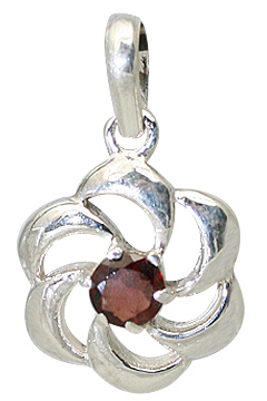 Design 11396: red garnet flower pendants