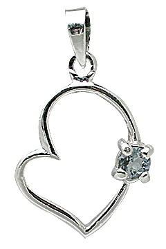 Design 11407: blue aquamarine heart pendants