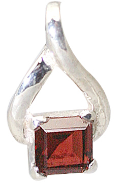 Design 11409: red,white garnet pendants